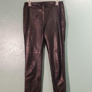Hugo Buscati real leather black pants